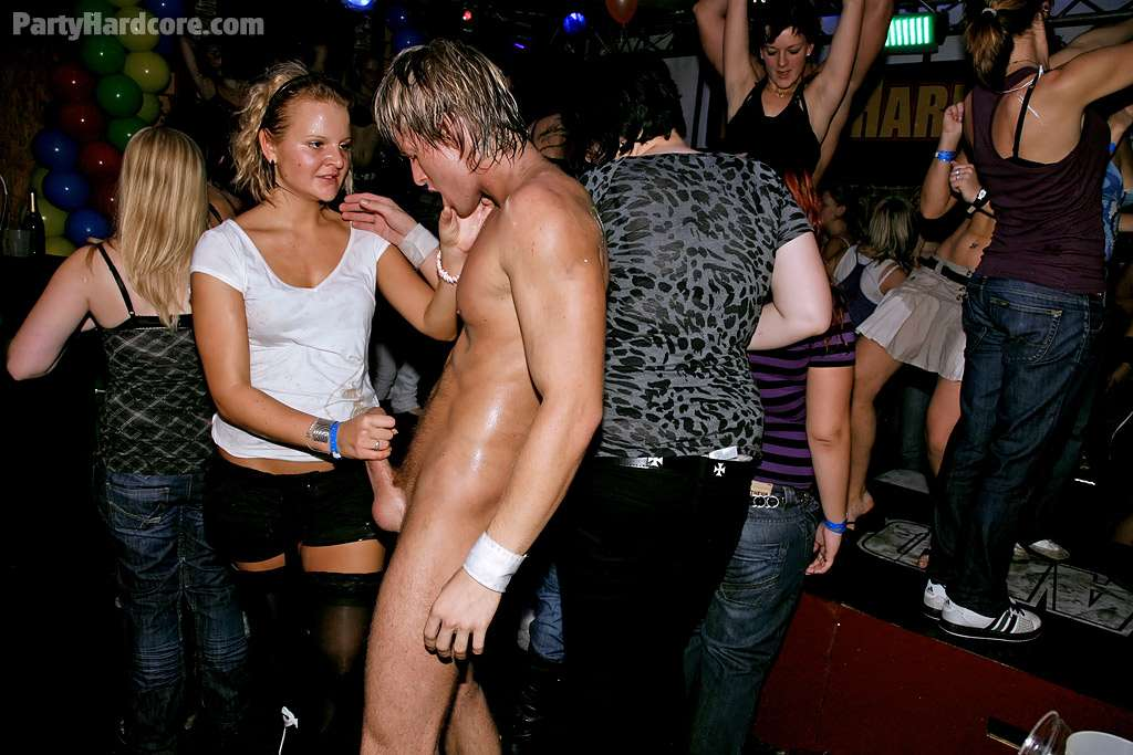 Male stripper at drunk party