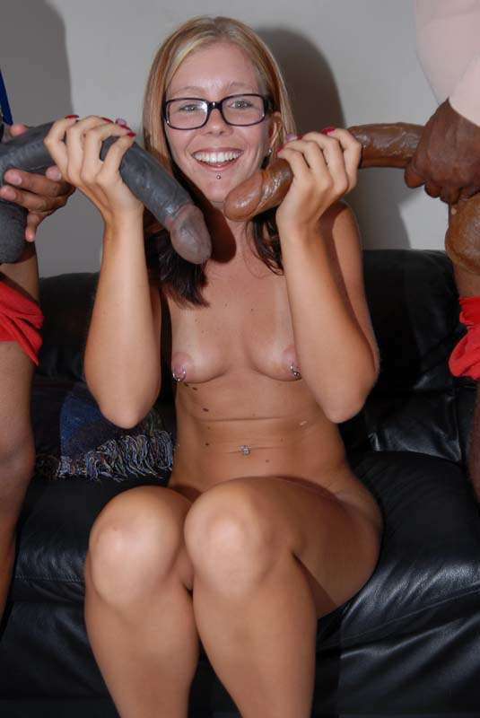 image Sexy blonde with glasses fucked by a stranger