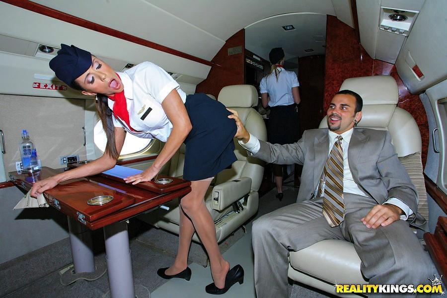 Flight attendant cfnm opinion