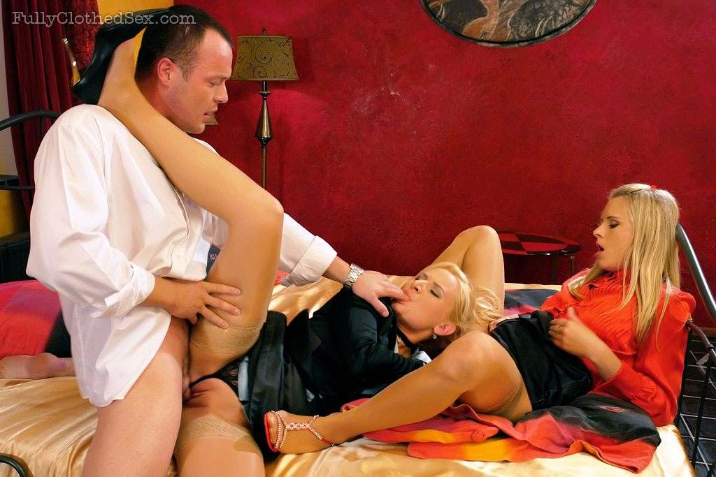 glamourous clothed sex orgy