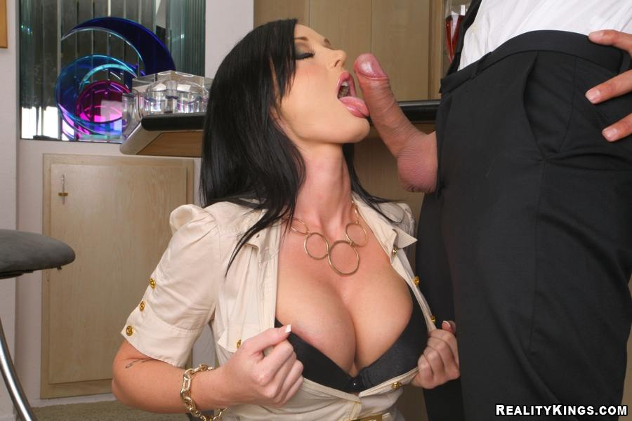 busty milf office 4some tube8