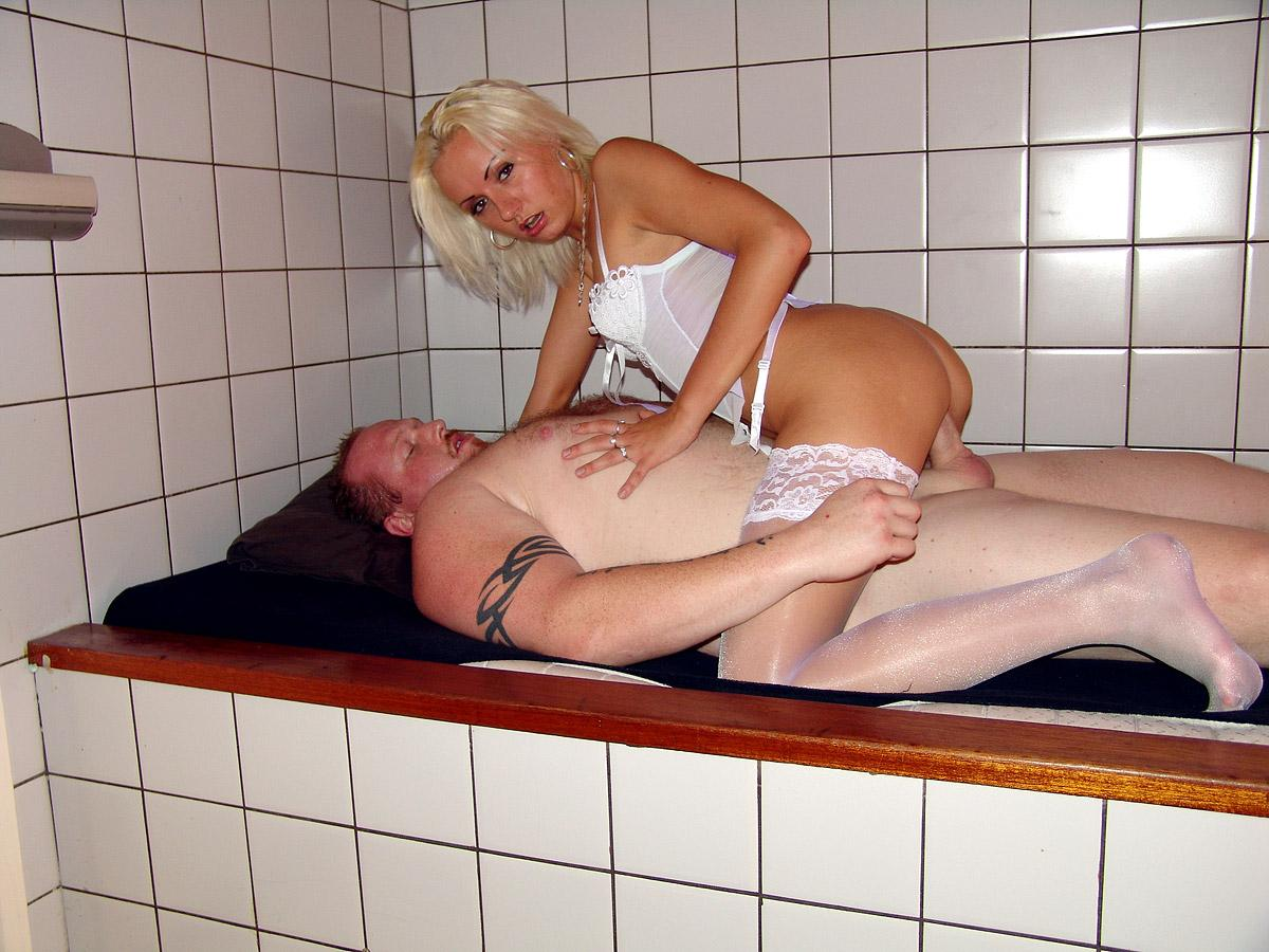 Blonde dutch prostitute fucks a guy